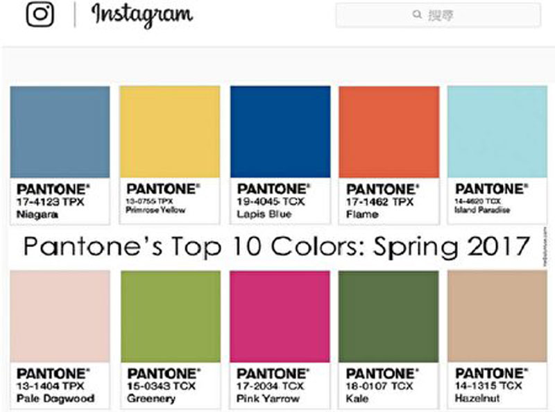 Otoritas Warna Internasional Pantone Merilis 10 Fashion Musim Semi Dan Panas 2017